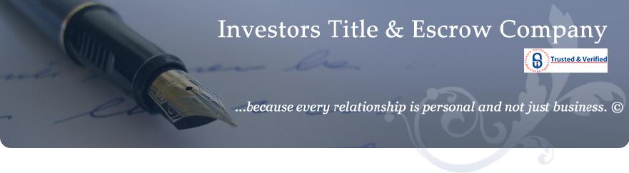 Investors Title & Escrow Company (ITEC)